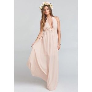 Show Me Your Mumu Luna Halter Dress Dusty Blush M